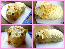 Guinea Pig cake by Crafty-lil-vixen
