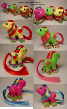 Newborn Rollerskating Ponies by Woosie