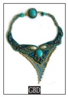 Turquoise Princess Necklace by gbdreams