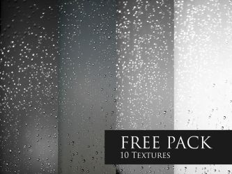 FREE Texture Pack - Rain drops by LeviaDraconia