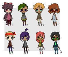 UPDATED- 20 Point Humanoid Adopts by Peachy-Prince