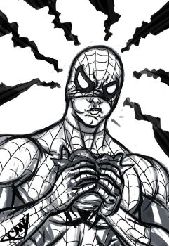 Lunch Break Spidey Commission by CJ-Williams