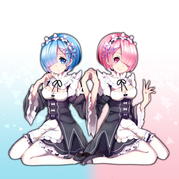 Ram and Rem by Yuniiho