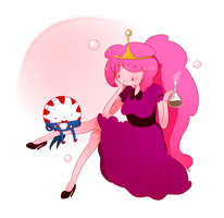 Princess Bubblegum and Peppermint Butler by RanchingGal
