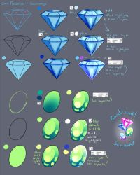 Step by Step - Diamond Gem Stone TUTORIAL by Saviroosje
