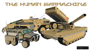 The Human Warmachine by Gwentari