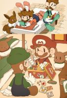 Mario and Luigi are playing. by Uroad7 by Uroad7