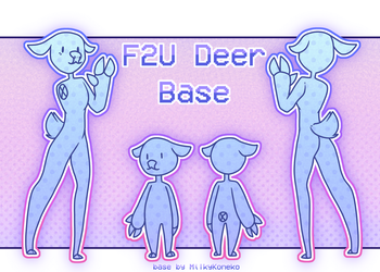F2U Deer Base! by MilkyKoneko