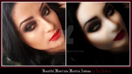 Model Morph to  Morticia by bloodbytes