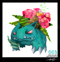 Venusaur- Pokemon One a Day! by BonnyJohn