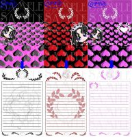 Gothic Princess Stationary by clrkrex