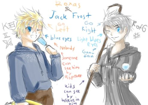 Jack_Frost_and_Roxas_comparison by souldaki