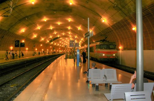 Monte Carlo Train Station by summer