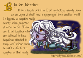 B is for Banshee by LadyRosse
