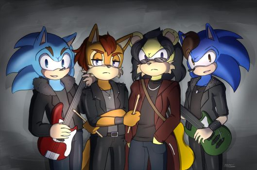 Comm: Rock band by Namrii
