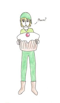 Link wants a cupcake by PalindromeIsntOne
