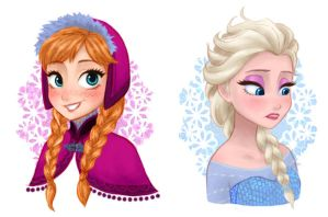 Anna and Elsa by isuzu9