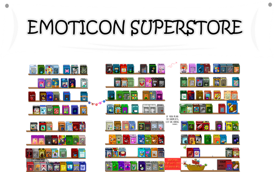 Emoticon superstore project by ScreamingGerbil