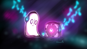 Undertale - Napstablook Just chillin' by Phione538