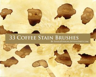 33 Coffee Stain Brushes by soulspoison