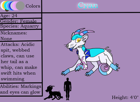 Cyan (Ref Sheet) by CyanDraggon
