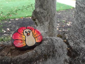 Turkey painted rock #2 by Batnamz