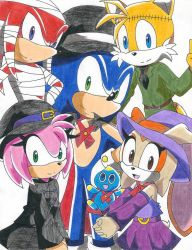 Halloween - Sonic and his Friends by RedFire199-S