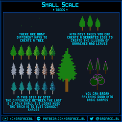 Small Scale Pixel Art Tutorial - Trees by SadfaceRL