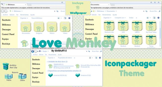 LOVE Monkey (Iconpackager Theme) by girlstuff15