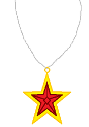 Red Jewel Star Necklace by Starlig