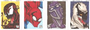 Born of Monsters sketchcards by OrionSTARB0Y
