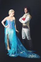 Snow Queen Elsa and Prince Hans by FrancescaMisa