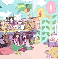 Alluka's room by sparklechii