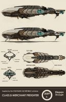 Class.B Merchant Freighter by NukeouT