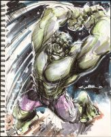 Sketch 01 : Hulk Smash... by Cinar