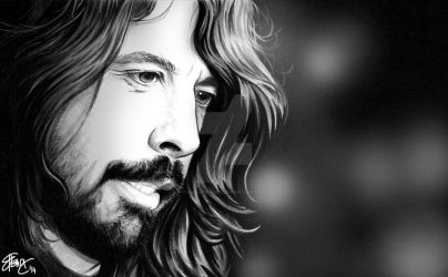 Dave Grohl Portrait by AmanoHikari