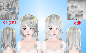 Texture for hair from the of Neka San. TDA MMD by NekaSan