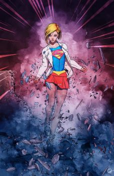 Supergirl attacked by maxx0