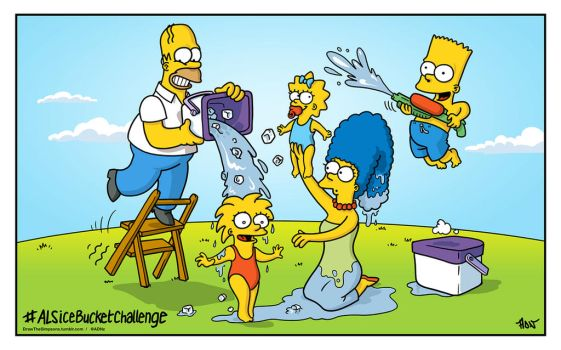ALSIceBucketChallenge with The Simpsons by ADN-z