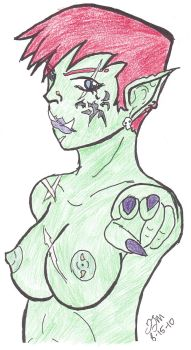 Orc Girl - Colored by brutus87
