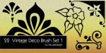 22 Vintage Deco Brush Set 1 by noema-13