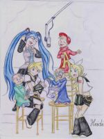 vocaloids and The chipmunks by Heidi-Celestial