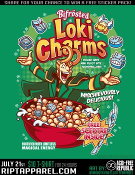 Loki Charms T-Shirt by Bamboota