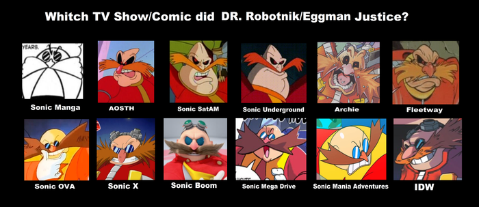 Eggman - Design Evolution by SebastianLR