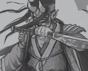 Samurai male PROGRESS! by NicoFari