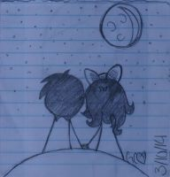 Looking At The Stars- Sketch by Trollan-gurl22