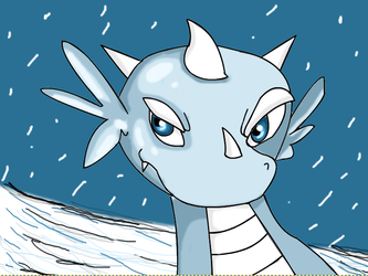Snow Dragon by LifeDragon17
