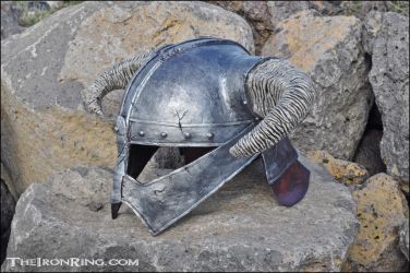 Skyrim: Dovahkiin iron helm replica II by TheIronRing
