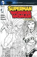 Wonder Woman Superman Sketch Cover Commission by jamietyndall