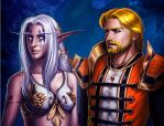 Aerithine and Reynalden by Shadow-Wolfen
